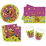 SCOOBY DOO BIRTHDAY PARTY TABLEWARE PACK NAPKINS PLATES CUPS TABLECOVER