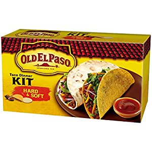 Amazon.com : Old El Paso Hard And Soft Taco Dinner Kit, 11.4-Ounce