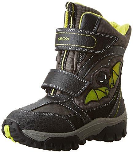 Geox JR Lt Himalaya B Abx A, Stivali da Neve Bambino, Nero (Black/LIMEC0802), 31 EU