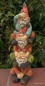 See Hear Speak No Evil Garden Gnome Tower