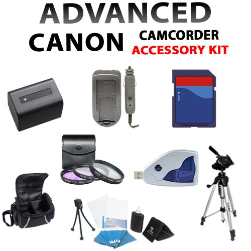 Available Cheap Price Lens and Filter Kit for Canon Vixia Hf-m40 Hfm40, Vixia Hf-m400 Hfm400, Vixia Hf-m41 Hfm41 Camcorders Including 3pcs Filter Kit, 8gb Sdhc Memory Card, Card Reader, Extended Life Battery + Charger, Case, Tripod and More !! Low Prices