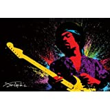 Jimi Hendrix-Paint, Music Poster Print, 24 by 36-Inch