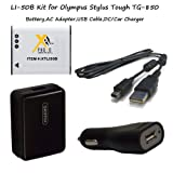 Excelshots Olympus Kit for LI-50B / Battery, AC Adapter , USB Cable and DC/Car Charger for Olympus Tough TG-850.