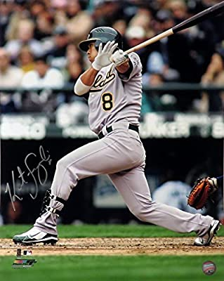 Kurt Suzuki Autographed Oakland Athletics 16x20 Photograph & Oakland A's Vida Blue Autographed Promotional Signing Flyer Unframed - Lot of 2 (COA)