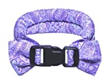 Calm Me Down Herbal Calming Collar Extra Small Lilac Paisley Fabric