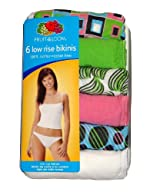 Fruit Of The Loom Ladies Assorted Low-rise Cotton Bikini Panty - 6 Pack