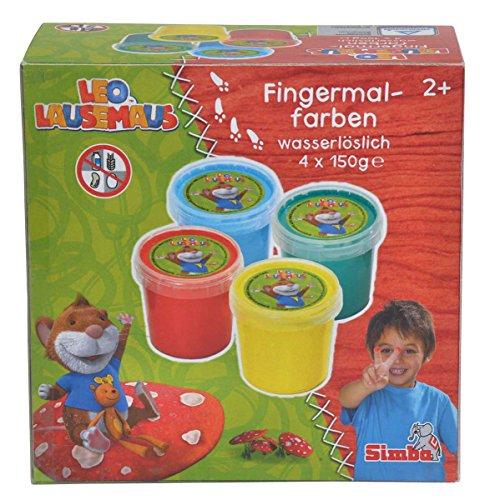 simba-109225094-leo-lausemaus-fingermalfarben-4x150g
