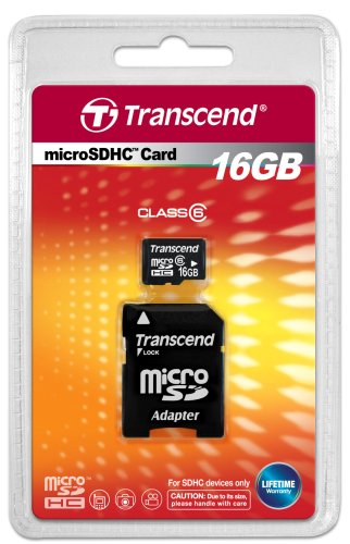 Transcend-16GB-MicroSDHC-Class-6-Memory-Card(With-Adapter)