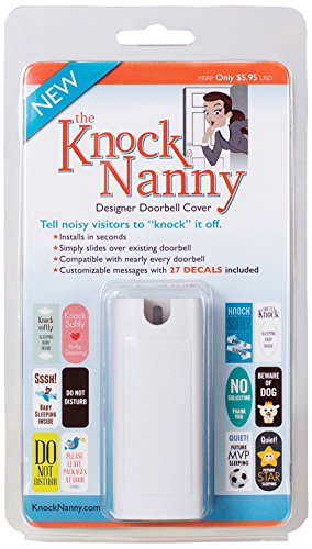 Knock Nanny Door Bell Cover, White (Door Signs For Kids compare prices)