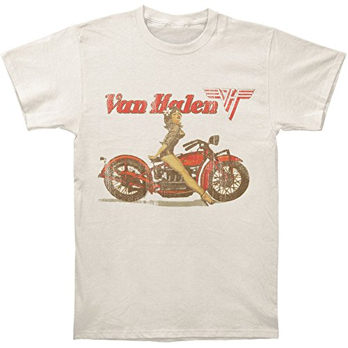 Van Halen Men's Biker Pin Up T-shirt Large Sand