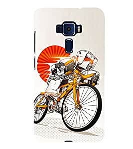 Cycle sport 3D Hard Polycarbonate Designer Back Case Cover for Asus Zenfone 3 Deluxe ZS570KL