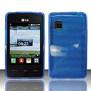 com blue flex cover case for lg 840g cell phones accessories