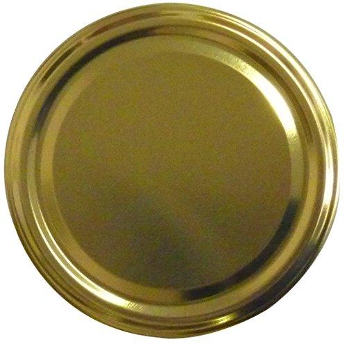 Twist-Off-Deckel TO82, Schraubdeckel Ø 82mm, Deckel für Gläser, Farbe: Gold (6)