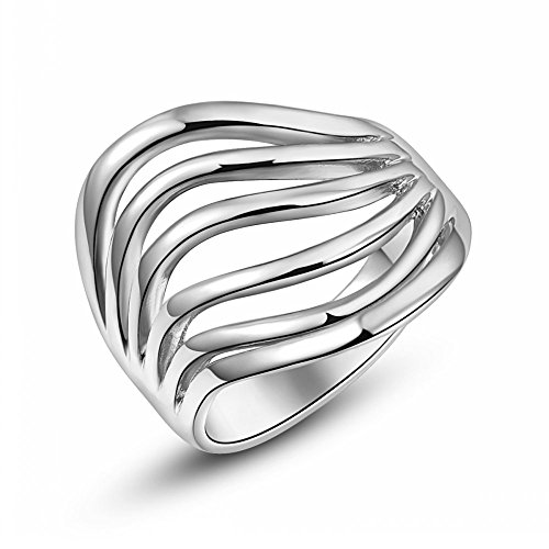 Roxi 18K Platitum Plated Thinking Ring Best Christmas Gifts (Available In Sizes 6 7 8)