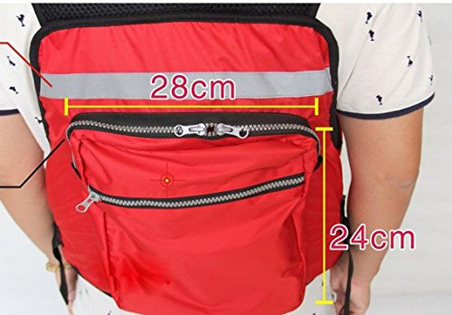 Adult-Buoyancy-Aid-Sailing-Fishing-Kayak-Canoeing-Life-Jacket-Vest-Red