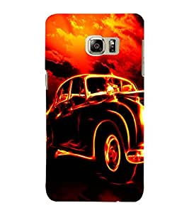 EPICCASE Glowing Car Mobile Back Case Cover For Samsung Galaxy Note 5 Edge (Designer Case)
