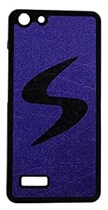 S World Rubber Back Cover For Micromax Hue AQ5000 - Purple