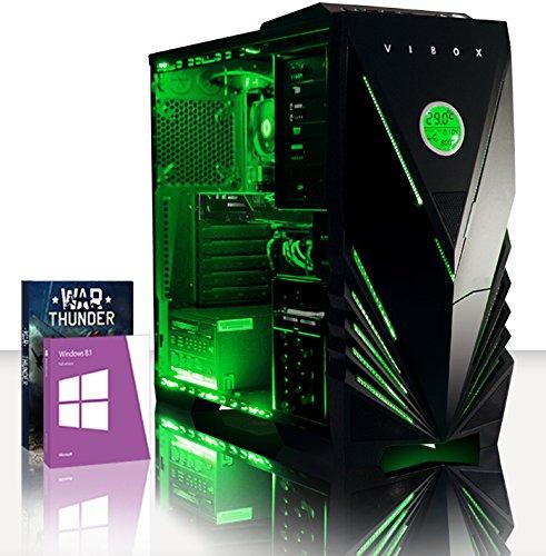 VIBOX Scope 49 - 3.9Ghz (4.0GHz Turbo) AMD Dual Core Desktop Gamer, Gaming PC Computer mit WarThunder Spiel Bundle, Windows 8.1 PLUS eine lebenslange Garantie inbegriffen* (Nvidia Geforce GT 730 2 GB Grafikkarte, 1TB Festplatte, 8 GB 1600MHz RAM, DVD-RW)