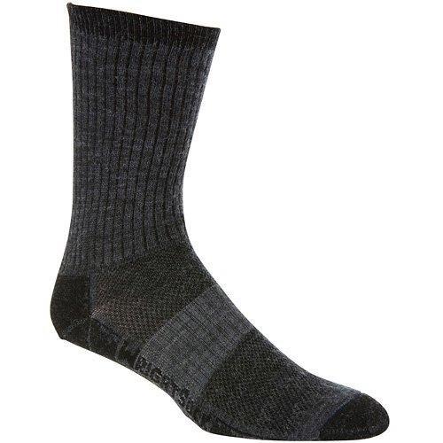 WRIGHTSOCK(ライトソック) MERINO STRIDE (メリノ ストライド) Crewタイプ(クルータイプ)メリノウール 2重構造 登山 中厚手 靴下 靴擦れ防止 靴ムレ防止 グレー W0011GRS グレー Small (21.5~23cm)