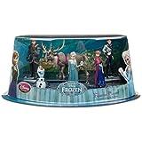 Disney Store Frozen Elsa Anna Olaf Kristoff Sven 6 Figure Play Set Cake Topper