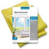 POLYCLEAN Microfaser Sonnentuch 2er Set (60x40 u. 40x40 cm). Endlich streifenfreie Fenster.
