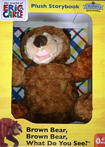 Zoobies Brown Bear Plush Storybook