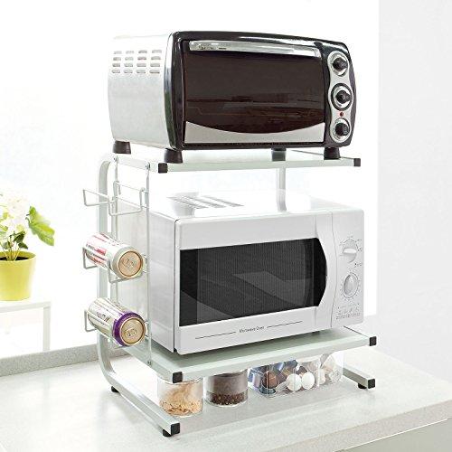 SoBuy mensola salvaspazio, porta elettrodomestici da cucina,Mensola, colore: bianco,FRG092-W,IT