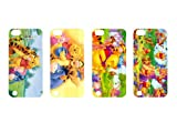 Wholesales 4pcs Winnie the Pooh Cartoon Fashion Hard back cover skin case for apple ipod touch 5 5th generation-it5wtp4001