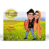 DDLJ, Bollywood Theme Caricature Gift For Couple, Gift For Husband, Gift For Wife, Gift For Girlfriend, Gift For...