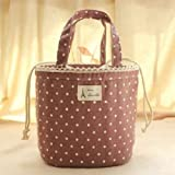Thermal Insulated Lunch Tote Cooler Bag Bento Picnic Pouch Container Storage - Q (Coffee)