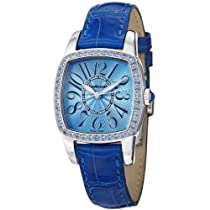 JeanRichard TV Screen Lady Blue Leather Strap Automatic Watch 26006T-11A-41A-AF4D