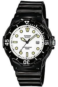Casio - LRW-200H-7E1VEF - Montre Femme - Quartz Analogique - Cadran Blanc - Bracelet Résine Noir