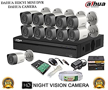 Dahua-DH-HCVR4116HS-S2-16CH-Dvr,-11(DH-HAC-HFW1000RP-0360B)-Bullet-Camera-(With-Accessories,2TB-HDD)