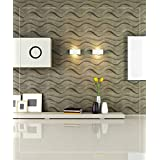 Easy Peel And Stick, Durable Plastic 3D Wall Panel - GAPLESS WAVE Design. 12 Panels. 32 SF