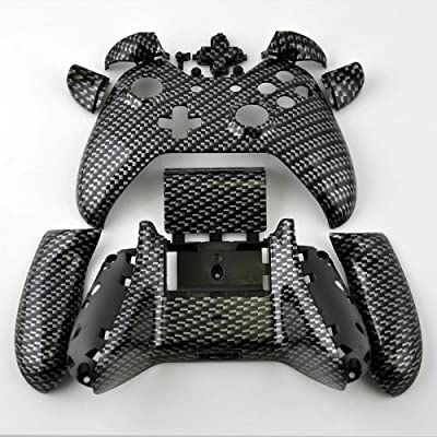 XBOX One Custom Hydro Dipped Black Silver Carbon Fiber Replacement Housing Shell Kits with Buttons For Controller