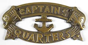 CAPTAINS QUARTERS Nautical Plaque
