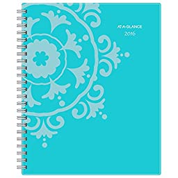 AT-A-GLANCE Professional Weekly / Monthly Planner 2016, Suzani, 8.5 x 11 Inches, Turquoise (917-905)