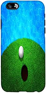 Snoogg ball near water golf background Hard Back Case Cover Shield For Apple Iphone 6 S / 6s