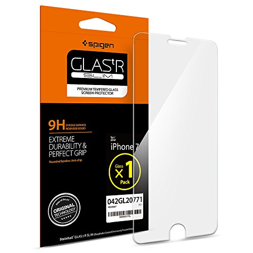 Pellicola Vetro Temperato iPhone 7, Spigen® **Easy-Install Kit** [Anti-riflesso Ultra-Clear] Ultra resistente in Pellicola vetro temperato Apple iPhone 7, Pellicola Protettiva iPhone 7 / 6S / 6 (042GL20771)