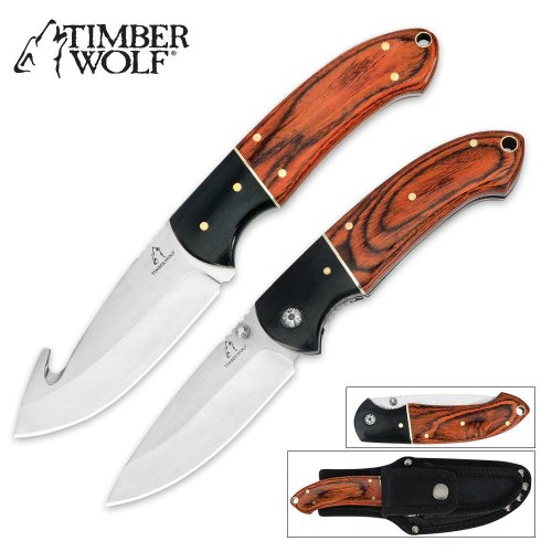 Timber Wolf River Run 2-Pc. Hunting Knife Set