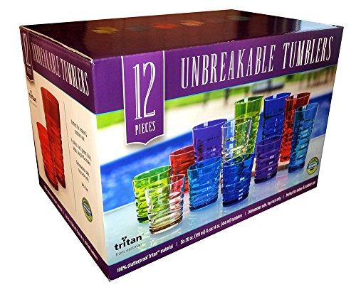 Tritan from Eastman 12 Piece Unbreakable Tumbler Set - Assorted Colors