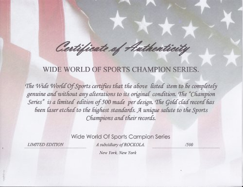 Secretariat Wide World Of Sports Stat Plaque - Sports Memorabilia