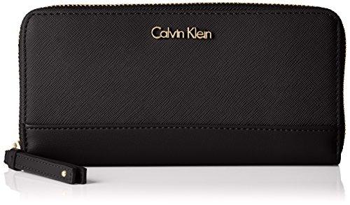 Calvin Klein JeansM4RISSA LARGE ZIPAROUND - Portafogli Donna , Nero (Nero (Black 001)), 10x20x3 cm (B x H x T)