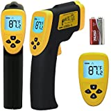 Etekcity Lasergrip 800 Non-contact Digital Laser IR Infrared Thermometer Temperature Gun, Yellow/Black