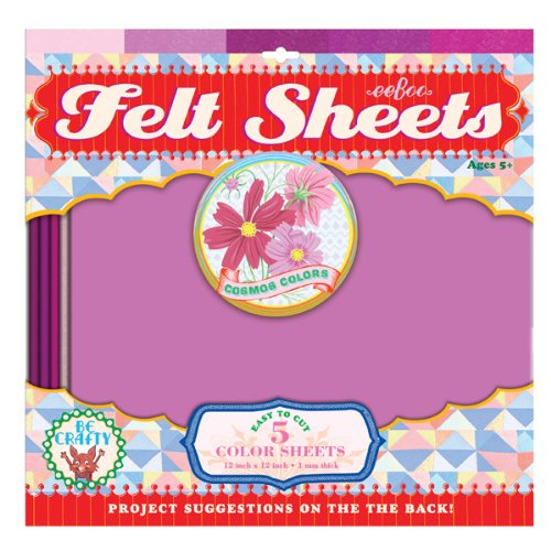 eeBoo Pink Cosmos Colors Felt Sheets