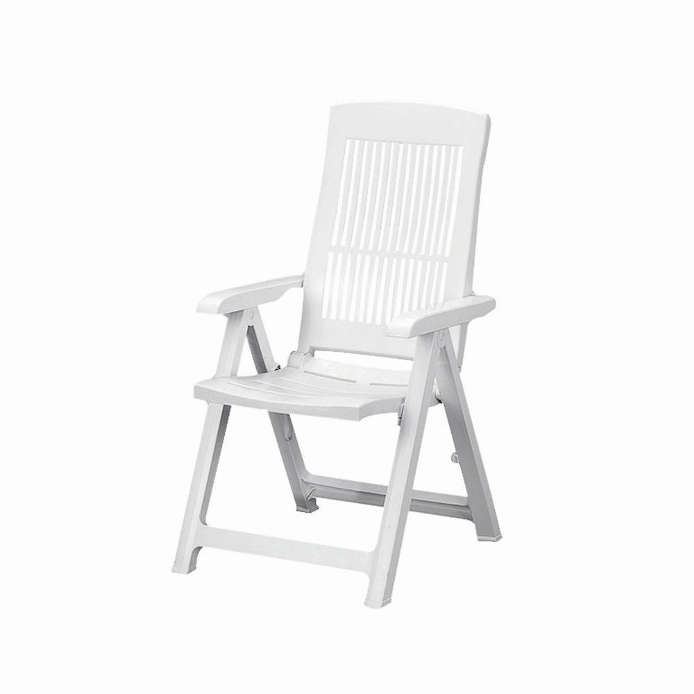 Progarden Stuhl Tampa Klappsessel, weiß