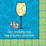 "Bunco Napkins ""Our Drinking Culb Has a Bunco Problem"""