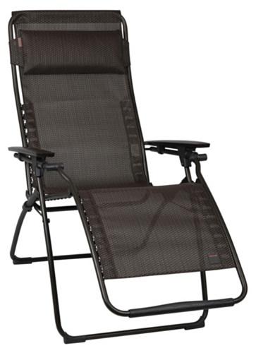 Lafuma LFM3078-5021 Relax-Liegestuhl, klappbar und verstellbar, Futura, Ficelle, braun