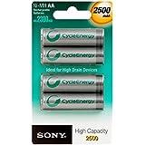 Sony NH AAB4E Pile pour appareil photo 4 x type AA NiMH 2500 mAh