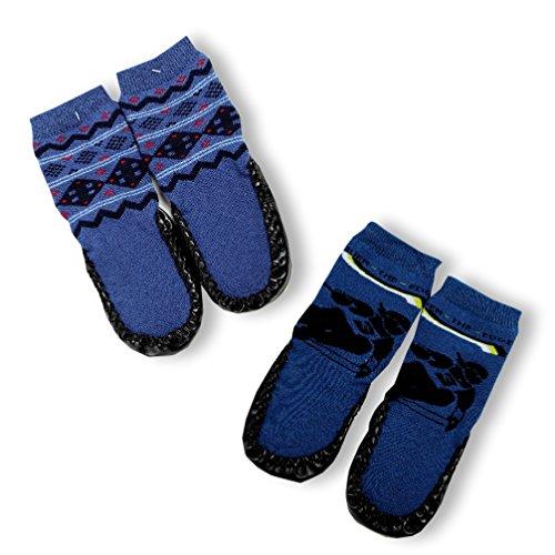 slipper-socks-house-socks-for-boys-pack-of-2-blue-size-m-9-cm-skf-01